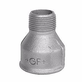 Image of   georg Fischer spidsmuffe sort 3/8 - 1/4'' muffe - nippel