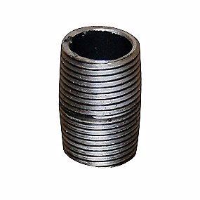 """Image of   Altech nippelrør sammenskåret sort 1.1/2"""" 40 mm"""