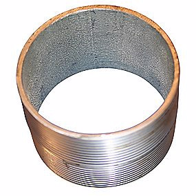 "Image of   Altech nippelrør sammenskåret galvaniseret 3/8"" 25 mm"