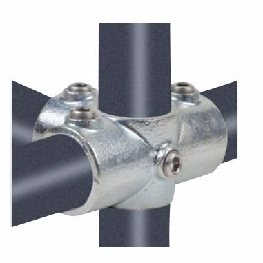 "Køb Altech Pipe Clamps kryds med 3 muffer 48,3 mm x 11/2"". Galvaniseret. Reol system"