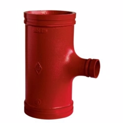 Atusa sprinkler red. T-stk. 5''X4''. DN125X100 139,7X114,3mm. red paint