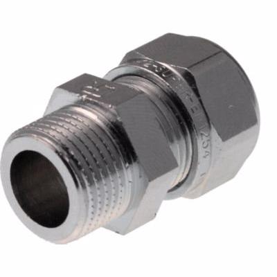 Image of   VSH forkromet kompressions overgang 1/2'' - 10 mm nippel