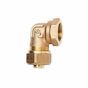 """Image of   TA Komp. Vinkel med muffe 3/4"""" x 20x2,0 mm. Med støttebøsning til Pex. Type TA 605"""