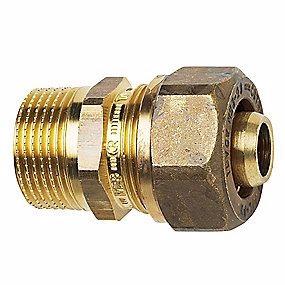"""Image of   TA Komp. Overgang med nippel 3/4"""" x 20x2,0 mm. Med støttebøsning til pex. Type TA 603"""