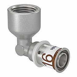 Uponor S-Press PLUS vinkel 90° med muffe 16mm x 1/2''