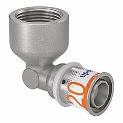Uponor S-Press PLUS vinkel 90° med muffe 20 mm x 3/4''