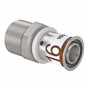 Image of   Uponor S-Press PLUS kobling med nippel 16 mm x 1/2''