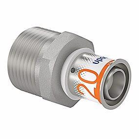 Image of   Uponor MLC preskobling med nippel 20 mm x 1''