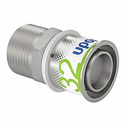Uponor S-Press PLUS kobling med nippel 32 mm x 1''