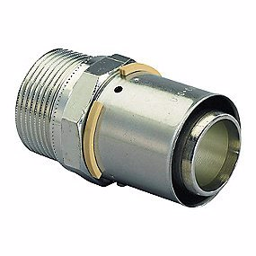 Image of   Uponor MLC preskobling med nippel 40 mm x 1.1/4''