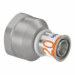 Uponor S-Press PLUS kobling med muffe 20 mm x 1''