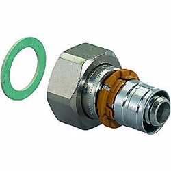 Uponor S-Press PLUS kobling med omløber og pakning 25 mm x 3/4''