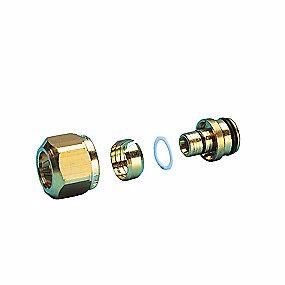 Image of   Omløbersæt pex 3/4-16mm 16-12 mm til gulvvarme fordelerrør for a