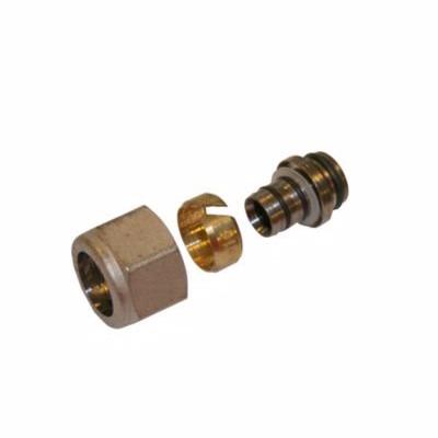 Image of   alupex omløbersæt 1/2''x 16 mm. 16-12mm fordelerrør. TEA belagt