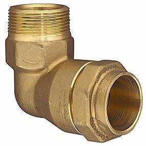 Image of   Isiflo vinkel med nippel 25 mm x 3/4'' 90°