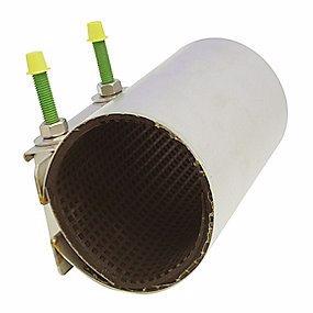 Billede af bandagemuffe 52-59 x 200 mm. 1-sidet bespænding. EPDM pakning. Syrefast stål AISI316