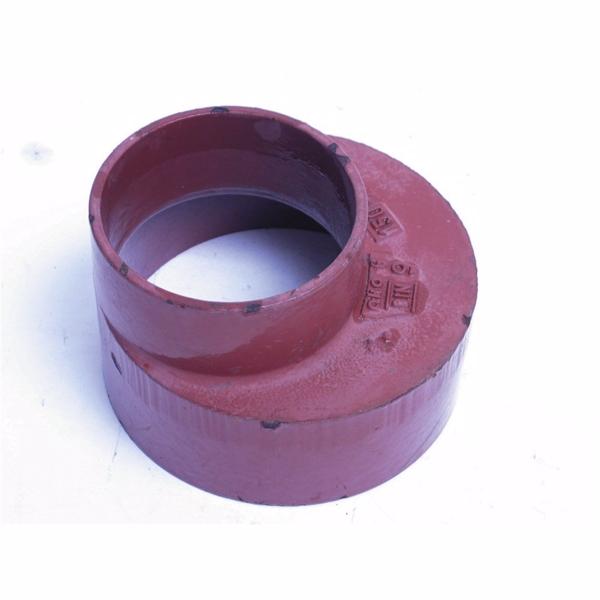 Image of   Düker SML Reduktion DN150, 150-100 mm, længde 105 mm, rød