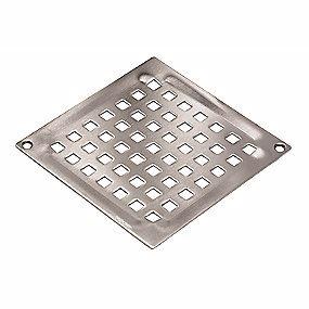 Image of   Blücher Square Vienna rist til gulvafløb med skruehuller 140x140 mm. Rustfrit stål