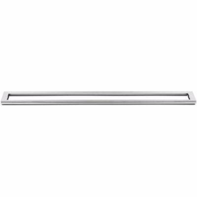 Unidrain HighLine ramme 700 mm, H 10 mm. Børstet stål
