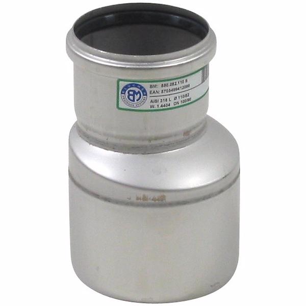 Image of   Blücher EuroPipe koncentrisk overgang 50-110mm, med o-ring, syrefast