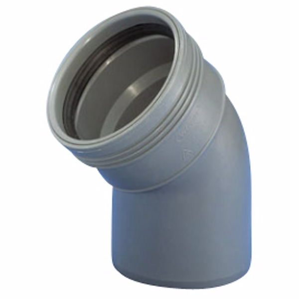 Image of   Wavin Wafix HC PP bøjning 40 mm. 45 gr.