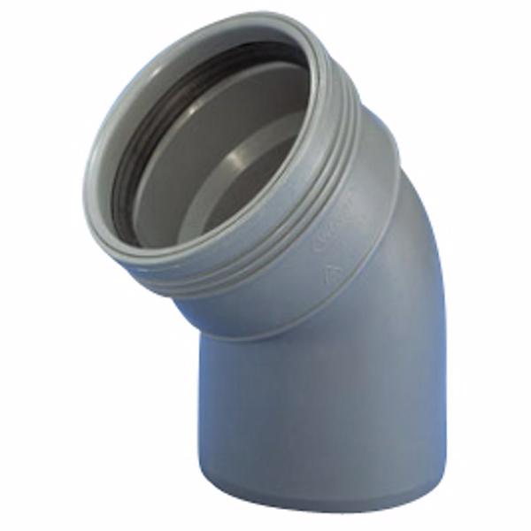 Image of   Wavin Wafix HC PP bøjning 50 mm. 45 gr.