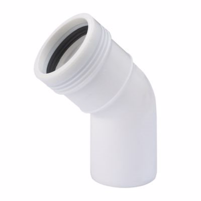 Image of   Wavin Wafix PP bøjning 40 mm. 45°. Hvid