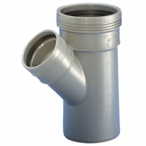 Image of   Wavin Wafix HC PP grenrør 50-50 mm. 45 gr.