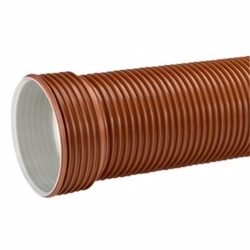 Uponor PP kloakrør 200x3000mm SN8 u/tætn.ring, EN13476. Ultra Rib 2