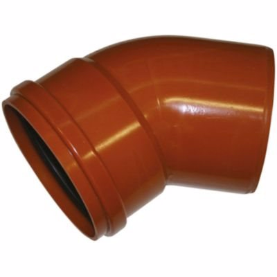 Image of   Uponor PVC bøjning 250mm 45°