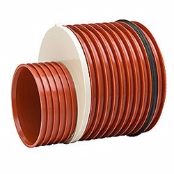 Uponor reduktion 400-315mm m/tætn.ring påsat. Ultra Rib 2