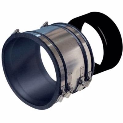 Image of   Lauridsen HOFOR L100 kobling 134-110mm. Overgang fra lerrør rør til plast