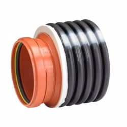 Uponor IQ reduktion 338-200mm for glat rør, sort PP SN8