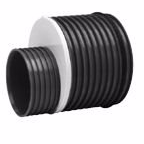 Uponor IQ reduktion 450-338mm, sort PP SN8
