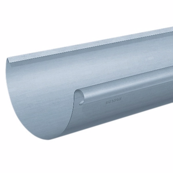 Rheinzink Tagrende 0,7x280 mm 1/2-rund. Nr. 11. længde a 3 meter. prePatina blaugrau