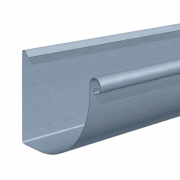 Rheinzink Tagrende 0,8x333 mm 1/4-rund. Nr. 12. Til lodning. PrePatina blaugrau. Længde a 3 meter