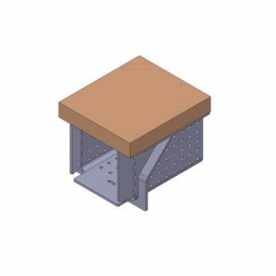 Image of   Skamolplade til brænder 10 kW Ildfast plade på U-rist