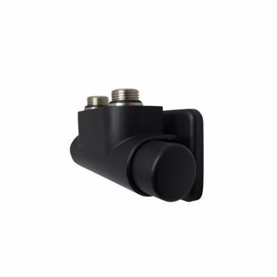 Image of   Kriss Twin Manuel ventilsæt 1/2''. Vinkelløbende manuel ventil til 50mm, højre. Sort