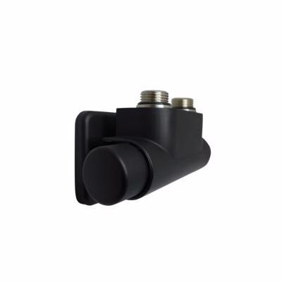 Image of   Kriss Twin Manuel ventilsæt 1/2''. Vinkelløbende manuel ventil til 50mm, venstre. Sort