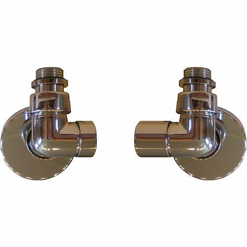 Image of   Kriss Corner, 1/2' v/l krom manuelt ventilsæt m/runde tilslutn.rør &