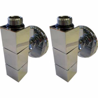 Image of   Kriss 4K2 ventilsæt 1/2'', vinkelløbende, manuelt. Inkl. 1/2'' tilslutningsrør & rosetter. Krom