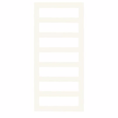 Image of   Kriss Sigma Håndklædevarmer 1320x600mm til centralvarme med flade firkantede rør. Hvid
