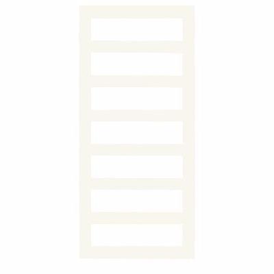 Image of   Kriss Sigma Håndklædevarmer 1500x600mm til centralvarme med flade firkantede rør. Hvid