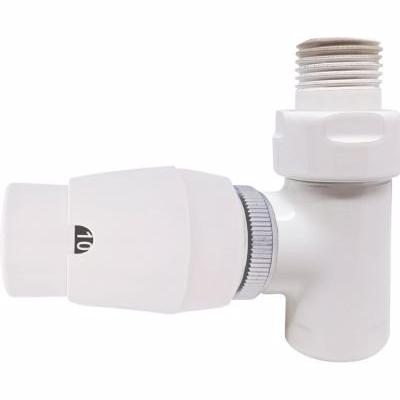 Image of   Kriss Cylinder ventilsæt med returtermostat ligeløbende. Hvid 1/2''