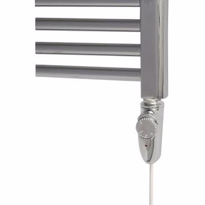 Image of   elpatron med termostat, måler vandets temp. 600W Krom