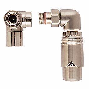 Image of   Strømberg returtermostat Returtermostat ventilsæt, børstet, hjørne, højre, 1/2 muffe