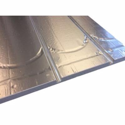 Billede af gulvvarmeplade 20 mm 1175x750x25 mm + vende og retur spor og alu. varmef. CC 250