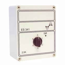 Altech 5-trins hastighedsregulator til  varmeventilator. Model ES 341 2,5A