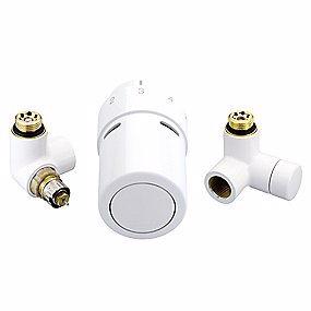 Image of   Danfoss RTX ventilsæt, til venstre monteret termostat, hvid