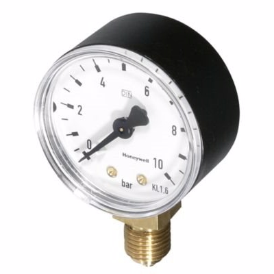 Image of   Honeywell Manometer til D04FM Ø50mm. 1/4'' 0-4 bar.